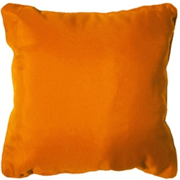 Coussin passepoil 60 x 60 cm polyester uni essentiel Mandarine