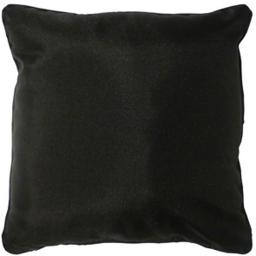 Coussin passepoil 60 x 60 cm polyester uni essentiel Noir