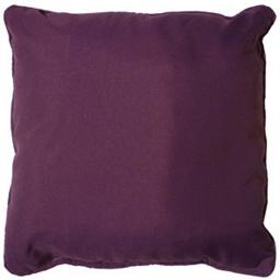 Coussin passepoil 60 x 60 cm polyester uni essentiel Prune