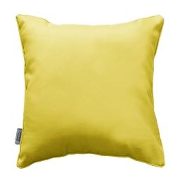 Coussin passepoil 60 x 60 cm polyester uni essentiel Tilleul