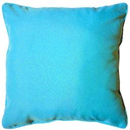 Coussin passepoil 60 x 60 cm polyester uni essentiel Turquoise