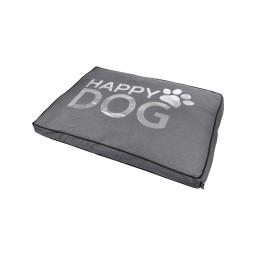 coussin rectangle 60*45*8cm collection happy dog gris dehoussable avec zip
