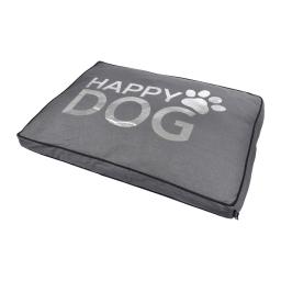 coussin rectangle 80*60*8cm collection happy dog gris dehoussable avec zip
