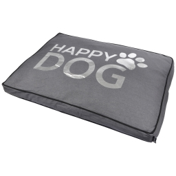 coussin rectangle 95*70*8cm collection happy dog gris dehoussable avec zip