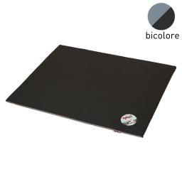 coussin rectangle bicolore noir/gris 80x60x3cm