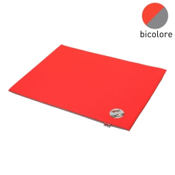 coussin rectangle bicolore rouge/gris 80x60x3cm