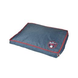 coussin rectangle design jean 60*45*8cm dehoussable avec zip