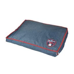 coussin rectangle design jean 80*60*8cm dehoussable avec zip