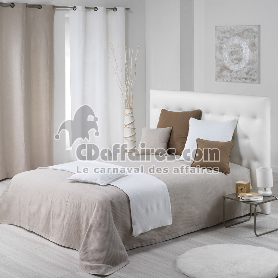 couvre lit 220x250 cm piqu de coton karoll couleur blanc ebay. Black Bedroom Furniture Sets. Home Design Ideas