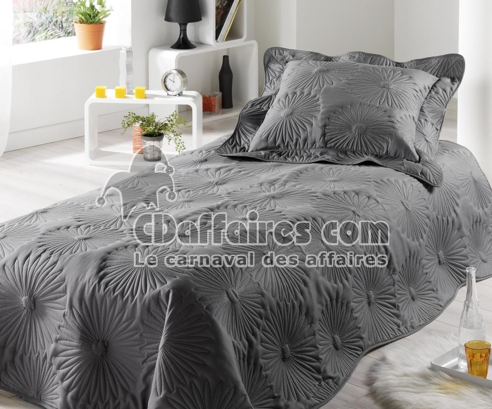 couvre lit boutis 150x230 cm neptune gris anthracite ebay. Black Bedroom Furniture Sets. Home Design Ideas