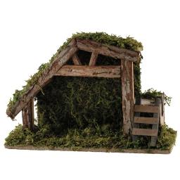 creche vide en bois h21xl31xp12cm