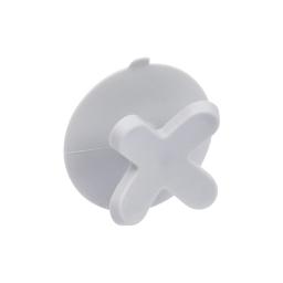 crochet ventouse plastique vitamine gris clair