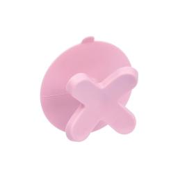 crochet ventouse plastique vitamine rose poudré