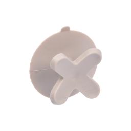 crochet ventouse plastique vitamine taupe