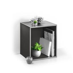 cube 1 niche panneau de particules l34,5*p29,5*h34,5cm gris anthracite