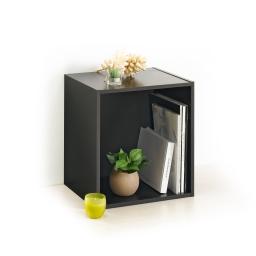 cube 1 niche panneau de particules l34,5*p29,5*h34,5cm noir