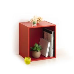 cube 1 niche panneau de particules l34,5*p29,5*h34,5cm rouge