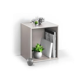 cube 1 niche panneau de particules l34,5*p29,5*h34,5cm taupe