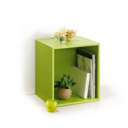 cube 1 niche panneau de particules l34,5*p29,5*h34,5cm vert anis