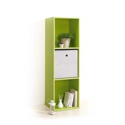 cube de rangement 3 niches h100.8*l34.4*p29.5cm vert anis