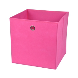 cube de rangement intissé l31*p29*h31cm fuchsia