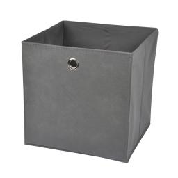 cube de rangement intissé l31*p29*h31cm gris anthracite