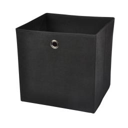 cube de rangement intissé l31*p29*h31cm noir