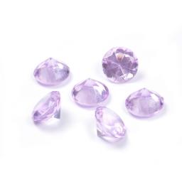 diamants acryliques decoratifs lilas 100grs - ø2.8cm