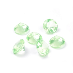 diamants acryliques decoratifs vert 100grs - ø2.8cm