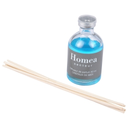 diffuseur de parfum avec tiges - 50ml - parfum cristaux de mer