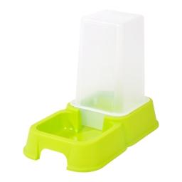 distributeur d'eau + croquettes 3,5l pour animaux coloris vert anis