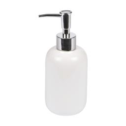 distributeur de savon ceramique vitamine blanc