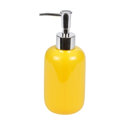 distributeur de savon ceramique vitamine jaune