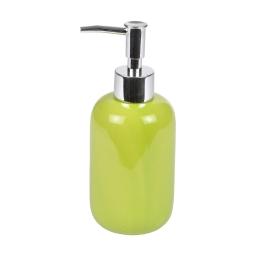distributeur de savon ceramique vitamine vert anis