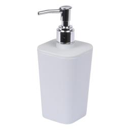 distributeur de savon plastique effet soft touch vitamine gris clair