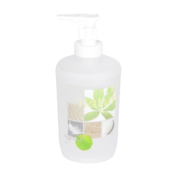 distributeur de savon plastique imprimé vegetal