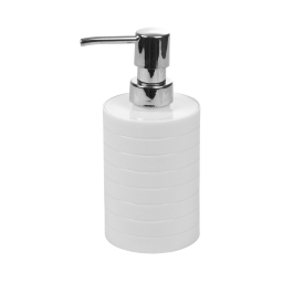 distributeur de savon plastique strié urban blanc