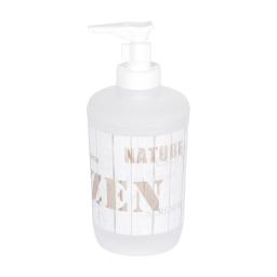 distributeur de savon plastique zen wood