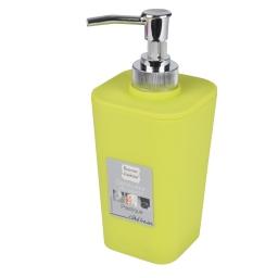 Distributeur savon (0) 7.3 x 17.5 cm plastique vitamine  effet soft touch Anis