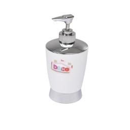 distributeur savon blanc chromé - licence d&co