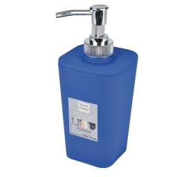 Distributeur savon effet soft touch  douceur d'interieur theme vitamine Bleu roi