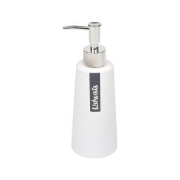 distributeur savon effet soft touch theme bali blanc - licence ushuaia