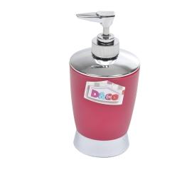 distributeur savon fuschia chromé - licence d&co