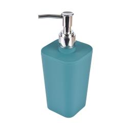 Distributeur savon plastique effet soft touch vitamine bleu emeraude Bleu/emeraude