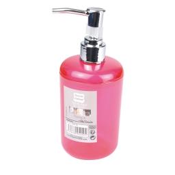 distributeur savon plastique translucide vitamine fuchsia