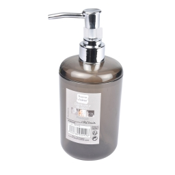 distributeur savon plastique translucide vitamine noir