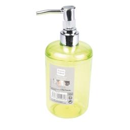 distributeur savon plastique translucide vitamine vert anis