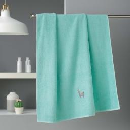 Drap de bain 90 x 150 cm eponge brodee lamalima Vert D'eau