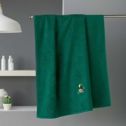 Drap de bain 90 x 150 cm eponge brodee toucalaos Vert
