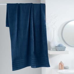 Drap de bain 90 x 150 cm eponge unie vitamine Bleu nuit
